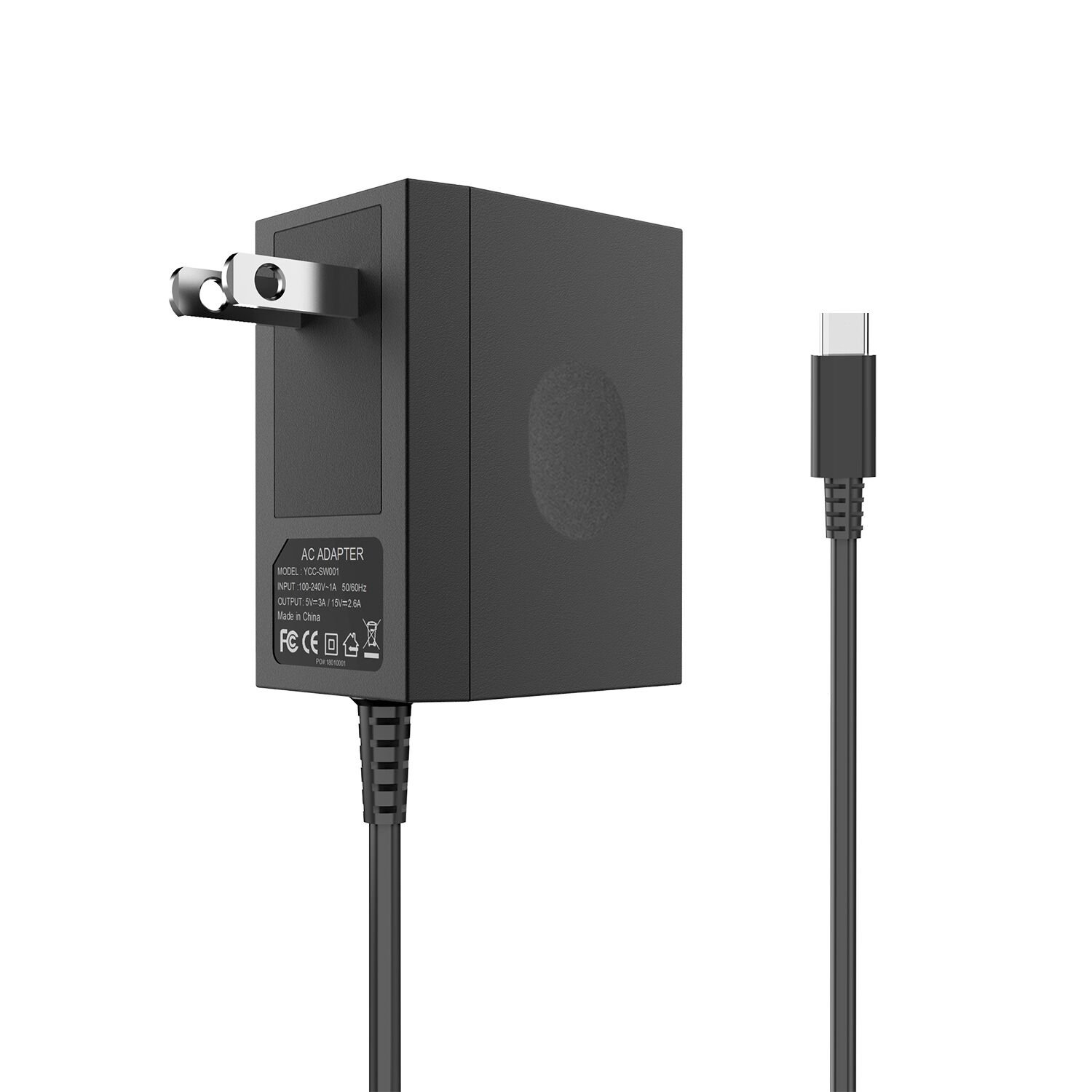 AC Adapter for Nintendo Switch DC15V/2.6A Switch Power Adapter with 5FT Cord Switch Fast Travel Charger with Type C Nintendo Switch Wall Charger for Nintendo Switch Support TV Mode and Dock Station
