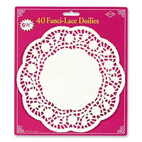 Fanci Lace - Club Pack of 480 White Fanci-Lace Table Top Decoration Doilies 6.5