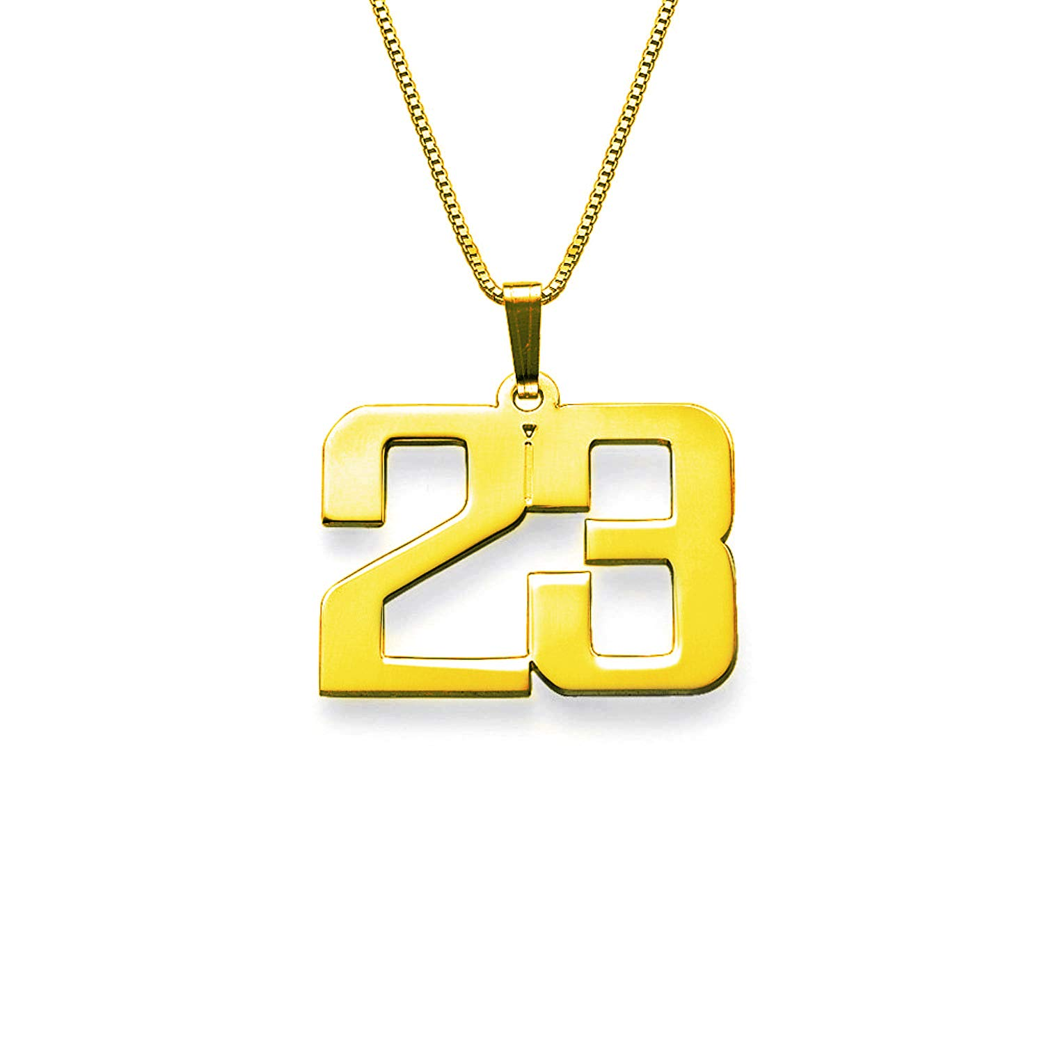 Laofu 925 Sterling Silver Customized Jewelry For Men Personalized Charm Number Necklace Gift For Him Hergold Amazon Com