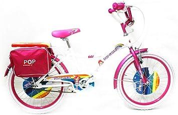 Reset - Bicicleta para niña, 20 Pulgadas, Pop Sunrise, Blanca y Rosa: Amazon.es: Deportes y aire libre
