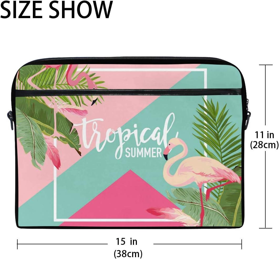 MacBook Air Laptop and Tablet TropicalLife Flamingo Tropical Summer Laptop Bag Lightweight Briefcase Shoulder Messenger Bag Laptop Case Sleeve for 11.6-15 inch MacBook Pro