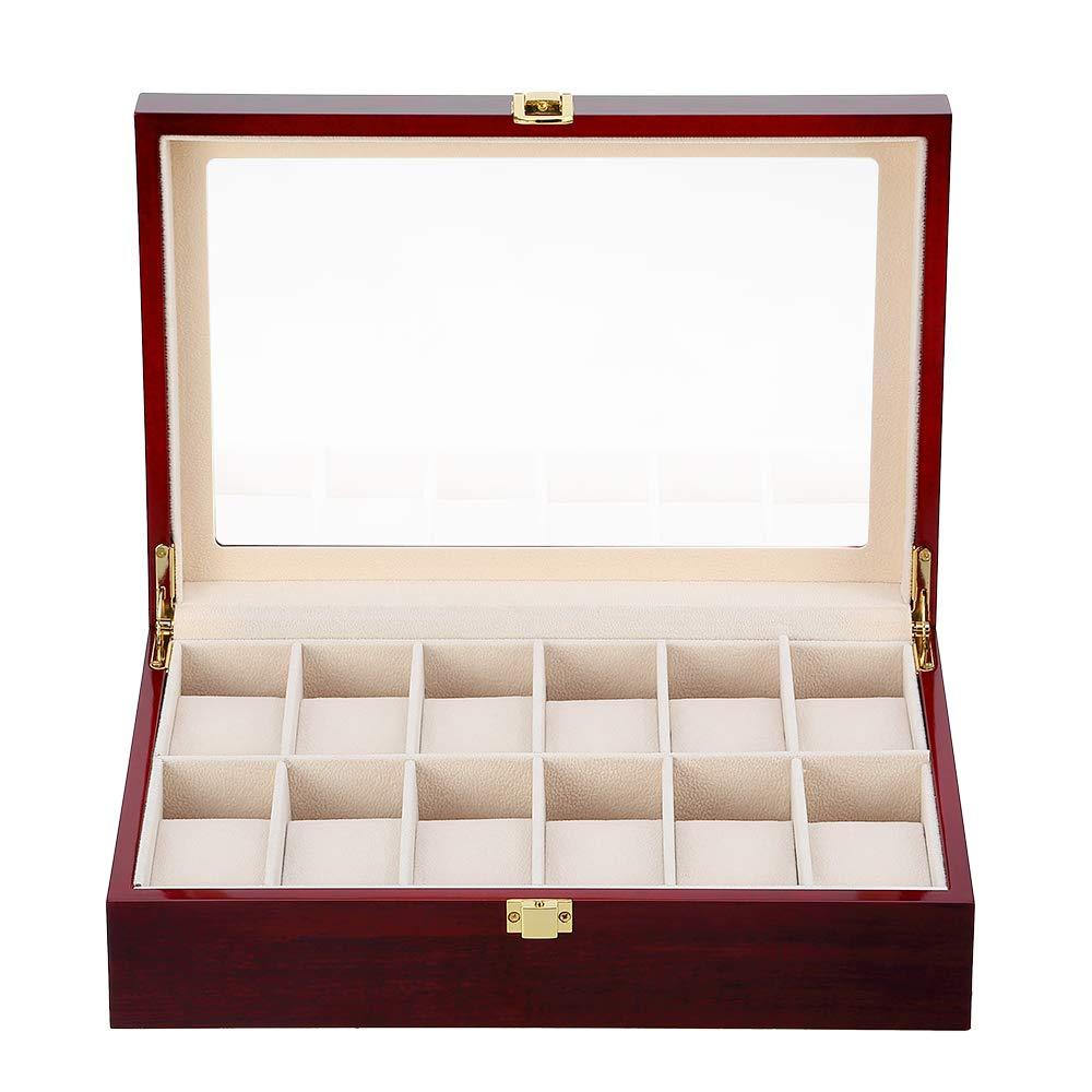 Caja para Relojes de Madera Estuche para Relojes y joyeros con 12 Compartimentos product image