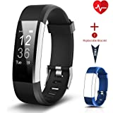 Fitness Tracker [Versione aggiornata], CHEREEKI Monitor di frequenza cardiaca Activity Tracker IP67 Impermeabile 0.96'' Touch Screen, Braccialetto intelligente Braccialetto sportivo Pedometro Smartwatch con Allarme Calorie Counter Monitor di sonno Chiamata SMS Notifica Push per Android e iOS Smartphone