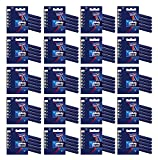 100x Gillette Blue II Disposable Razors Dual Blades Plus Chromium Coating 5pk x 20