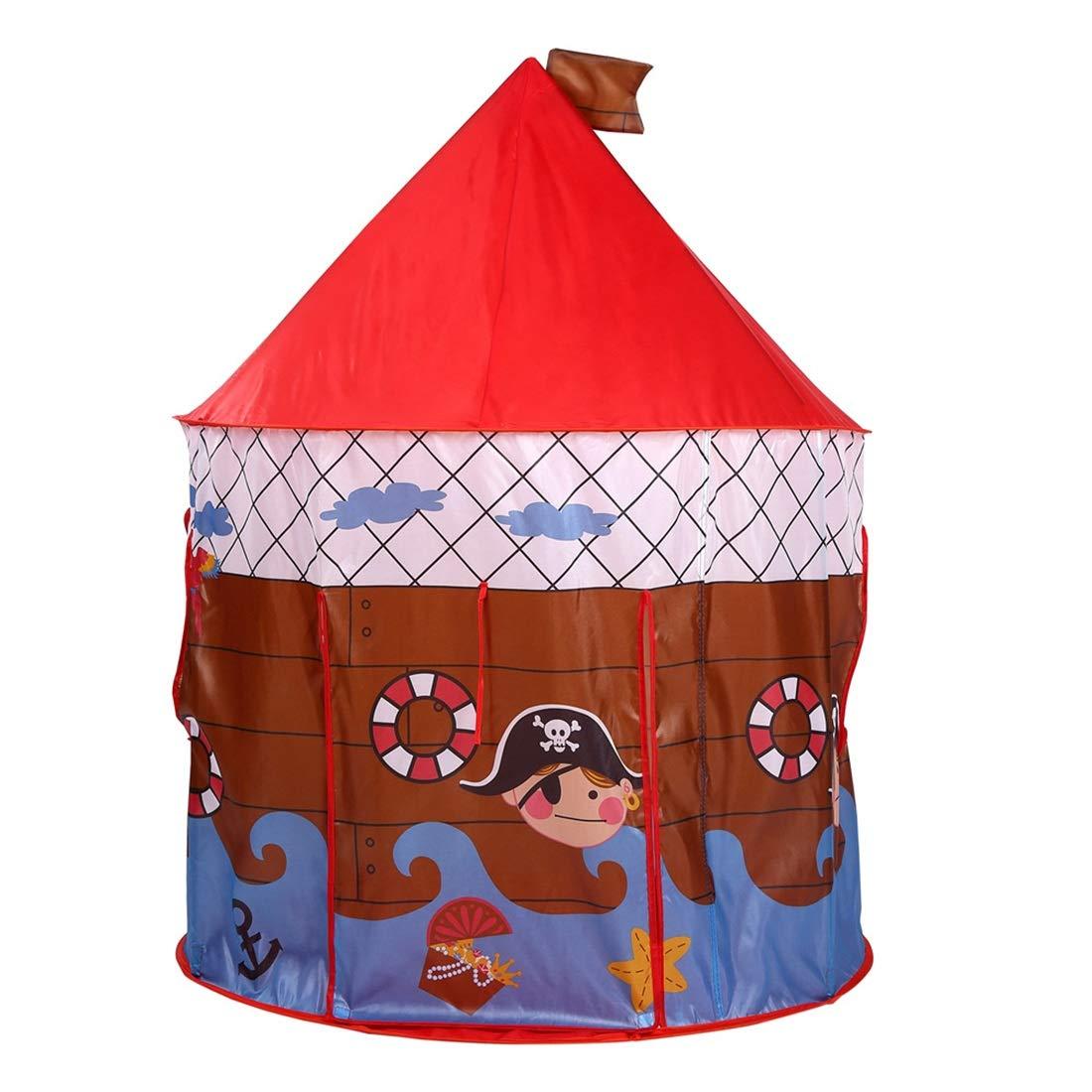 descuentos y mas JESSIEKERVIN YY3 Kis Play Tent Pirate Printed Toys Niños Niños Niños Indoor Playhouse al Aire Libre (Color : Red)  marca famosa