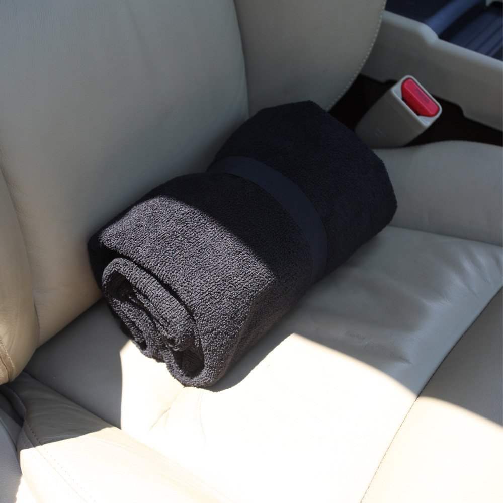 Leader Accessories Black Sweat Towel Seat Cover Car Seat Protector