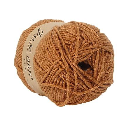Cooljun Fil de Laine à Tricoter Pull écharpe en Coton - Laine en Acrylique – Assortiment de Couleurs – Idéal pour Tout Projet de Tricot et de Crochet (F2)