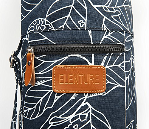 Elenture Full Zip Exercise Yoga Mat Carry Bag with Multi Functional Storage Pockets