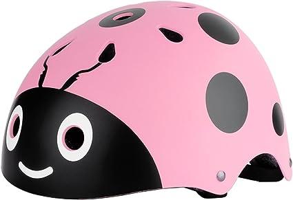 Freebily Casco Deportivo de Bicicleta Ciclismo Esquí Patinaje Waveboard Niño Niña Casco Ciclismo de Seguridad Divertido Resistente al Golpe (Circunferencia: 48-54cm) Rosa Talla única: Amazon.es: Deportes y aire libre