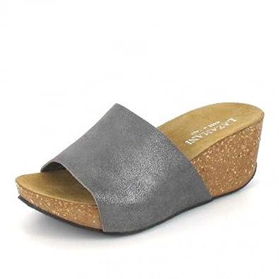 Lazamani Damen Pantolette Leder 31192 Pink Metallic Größe 41 NkAODbg