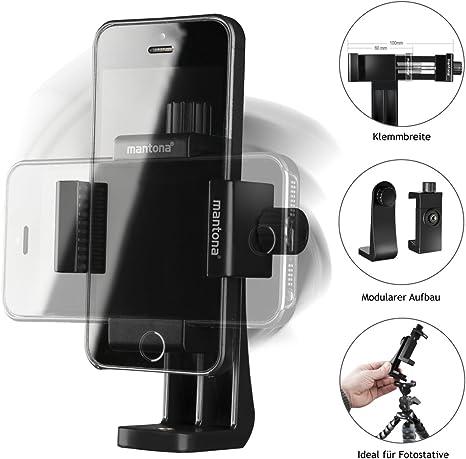 Mantona Smartphone Halter Rotate Clip 100: Mantona: Amazon.es: Electrónica