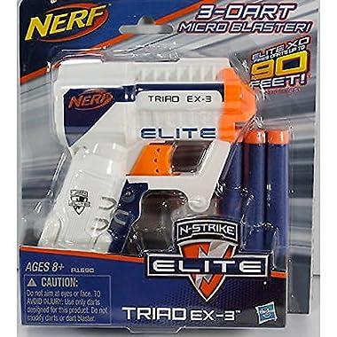 Nerf A1690 N-Strike Elite Triad EX-3 Blaster(Colors may vary)