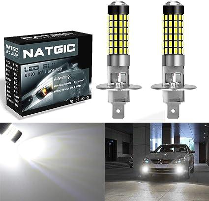 NATGIC H1 Bombillas LED Xenon White 1800LM 3014SMD 78-EX Chipsets ...