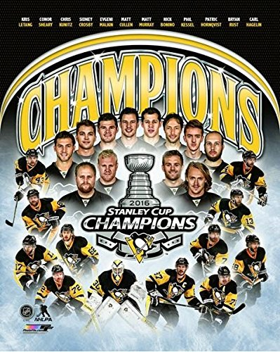Pittsburgh Penguins 2016 NHL Stanley Cup Champions Team Composite Photo (Size: 8