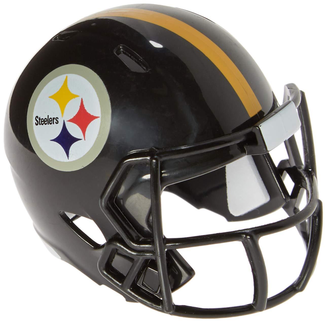 Riddell Mini-American-Football-Helm, NFL-Team: Pittsburg Steelers, im Taschenformat, Speed Pocket 095855320717