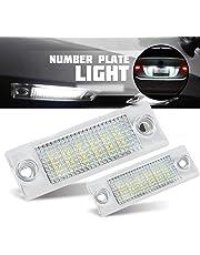VIGORFLYRUN PARTS LTD 2pcs 18 LED Luz de Matrícula Bombilla Licencia Número Placa Lámparas de Luz