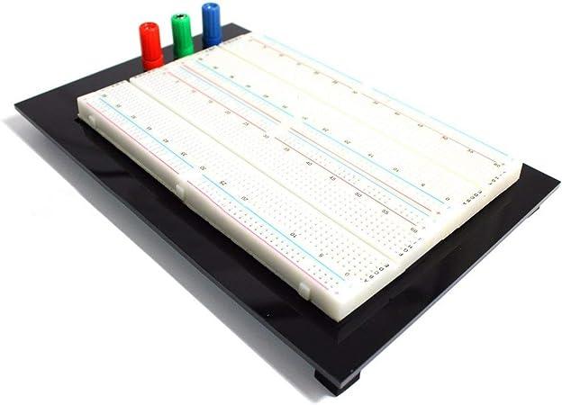 FOLWME 1660 Points ZY-204 Mini Prototype sans Soudure Planche /à Pain Protoboard PCB Universal Circuit Test Board Bricolage Outils Planche /à Pain