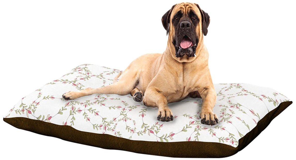 X-Large 40\ Kess InHouse Emma Frances Evergreen Wreaths  Dog Bed, 50 by 60-Inch