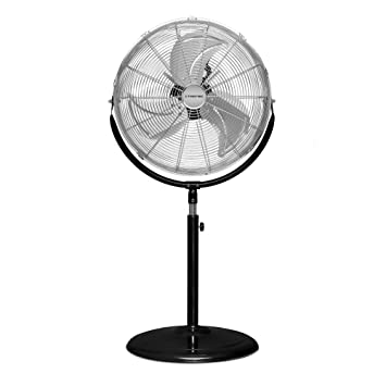 Trotec 1510006061 - Ventilador de pie TVM 18 S, 120 W Potencia, Diámetro 43 cm, 3 Velocidades, Incluye asa, Cromo: Amazon.es: Bricolaje y herramientas