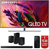 Samsung QLED Smart 4K UHD TV (2018) with Samsung Soundbar System and 1 Year Warranty Bundle (55 Q7FN + Surround System)