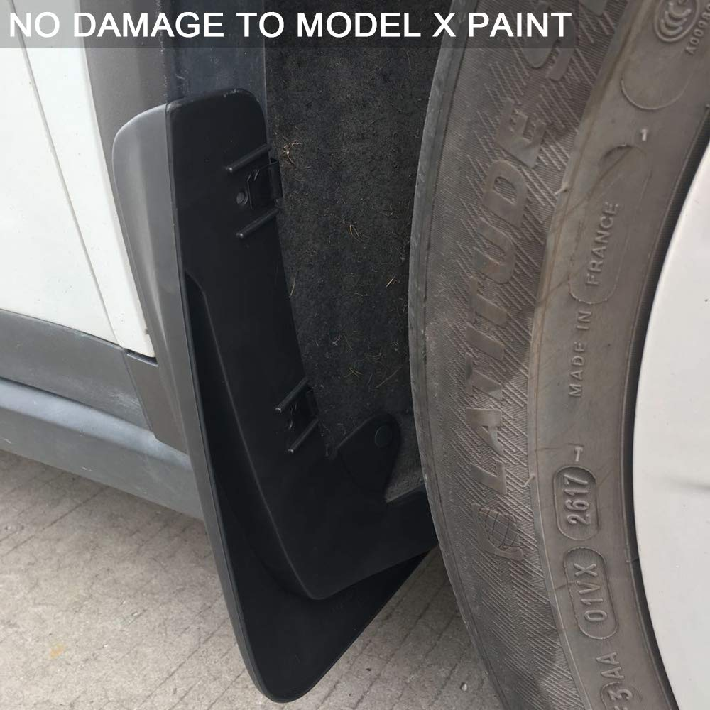 BASENOR Tesla Model S Mud Flaps Splash Guards Set of Four Model S