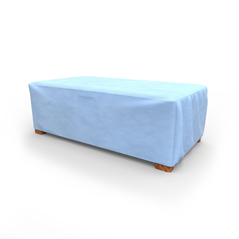Budge All-Seasons Patio Ottoman Cover / Coffee Table Cover, Medium (Blue)