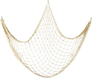 Cotton Fishing Net Decorative 79 Inch Beach Themed Decor Home Bedroom Party Wall Decoration Fish Netting Decorative