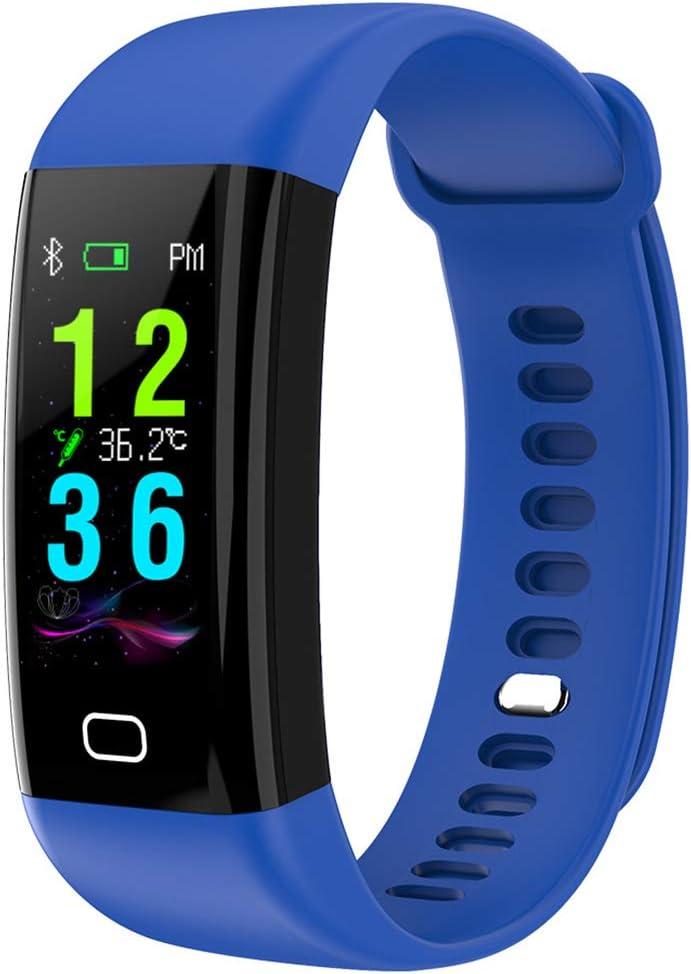 NNYCC - Reloj inteligente con pulsómetro, podómetro, GPS, actividad, actividad, tensión arterial, reloj inteligente deportivo para mujer y hombre, resistente al agua
