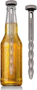 Kuraidori (2 Pack) Stainless Steel Beer Chill Cooler Sticks Keeps Drinks Cold For Picnic BBQ Party Supplies