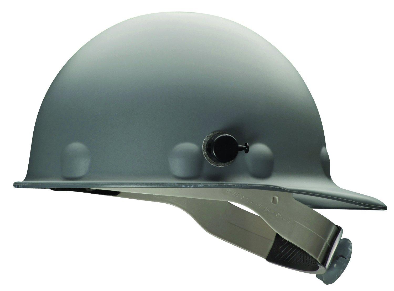 Fibre-Metal by Honeywell P2HNQRW09A000 Super Eight Fiber Glass Ratchet Cap Style Hard Hat with Quick-Lok, Grey