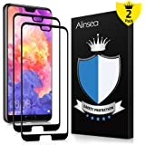 Alinsea Huawei P20 Pro Screen Protector [Full Coverage, Case Friendly] Tempered Glass [2 PACK] [Lifetime Replacement Warranty] [No Peeling off] [Full Adhesive] 9H Film for Huawei P20 Pro 6.1 inch