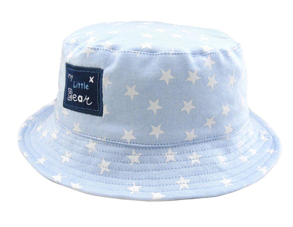 Yokeeyoo Baby Sun-shading Bucket Sun Hat Travel Cap Boy Cap with Star Pattern