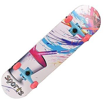 1-1 Skateboard Adolescentes Patineta 4 Ruedas de PU Dibujos Animados Profesional para Niños Principiantes Chicas Muchachos,B: Amazon.es: Deportes y aire ...