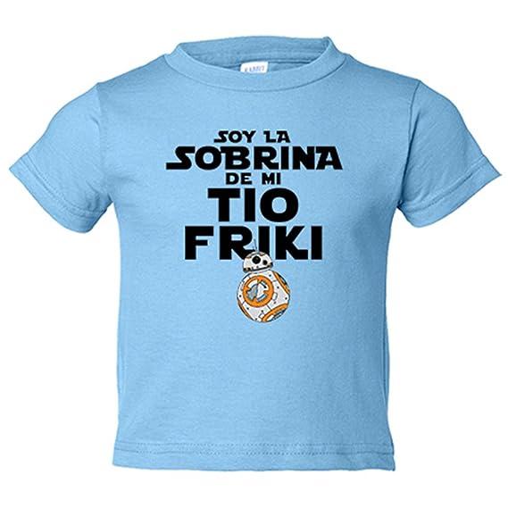 Camiseta niño Soy la sobrina de mi tío friki - Amarillo, 3-4 años ...