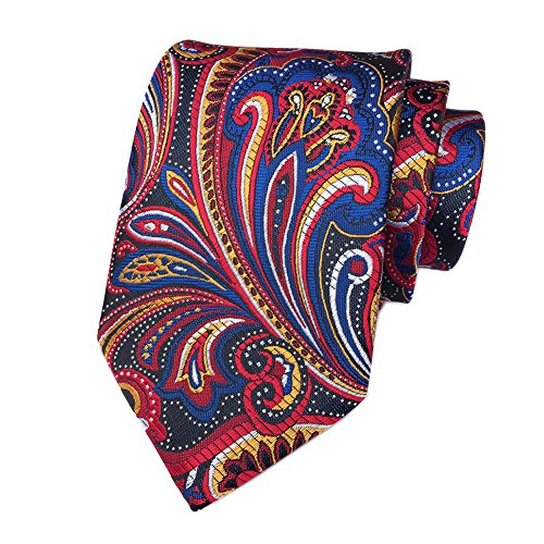Secdtie Red Navy Blue Black White Young Woven Silk Tie Dress Nice Necktie YUE017