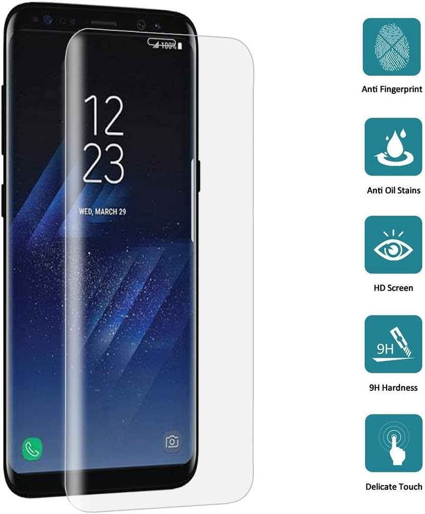 Color : Transparent Screen Protector Film Transparent LGYD 25 PCS for Galaxy S8 Plus // G9550 0.3mm 9H Surface Hardness 3D Curved Full Screen Tempered Glass Screen Protector
