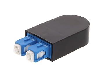 Amazon.com: SC adaptador de fibra óptica Loopback (9/125 ...