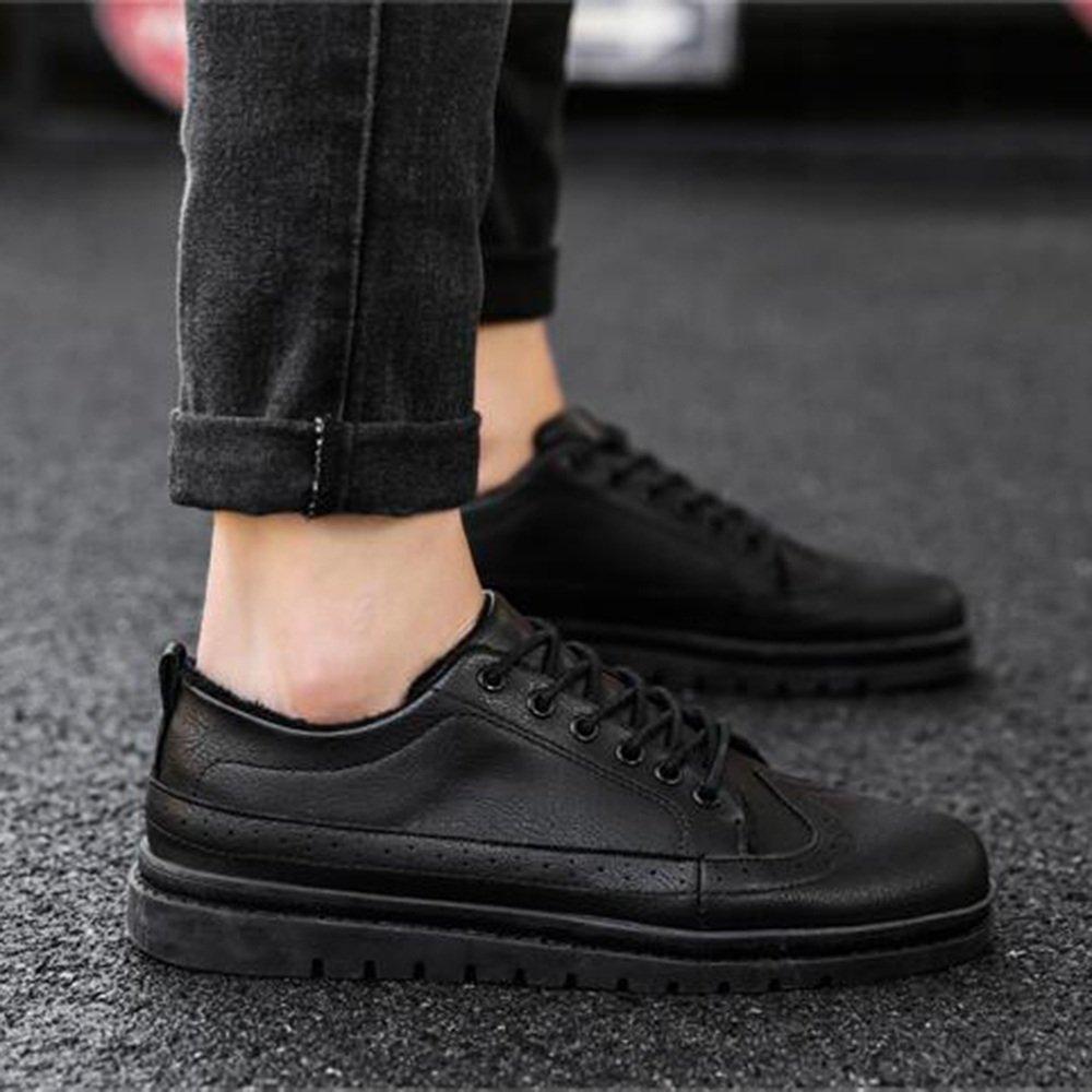 Herrenschuhe Feifei Herren Freizeitschuhe Hochwertige Hochwertige Hochwertige Materialien Winter Freizeit Warm Leder Schuhe 3 Farben (Farbe   Schwarz, größe   EU42 UK8.5 CN43) 0b511d
