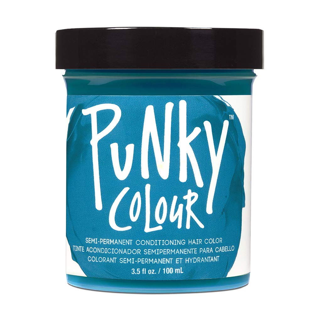 Punky Turquoise Semi Permanent Conditioning Hair Color, Vegan, PPD and Paraben Free, lasts up to 25 washes, 3.5oz