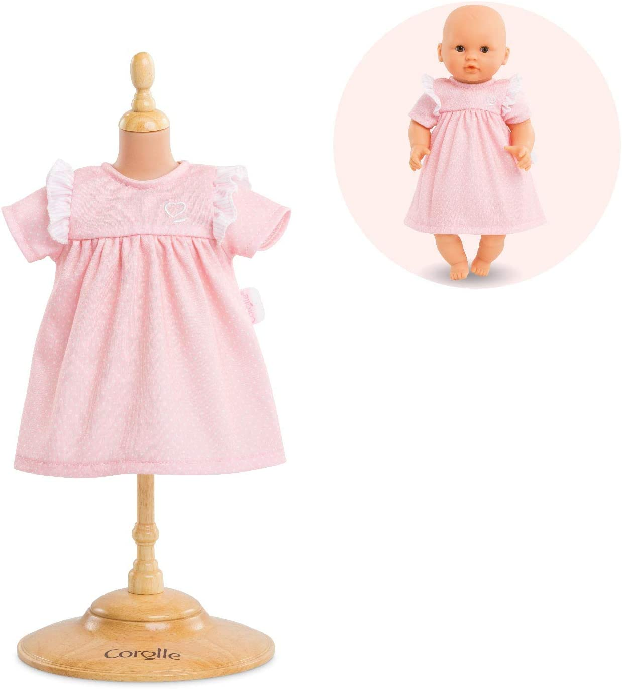 """Corolle Mon Premier Poupon Candy Dress for 12"""" Baby Dolls, Pink"""