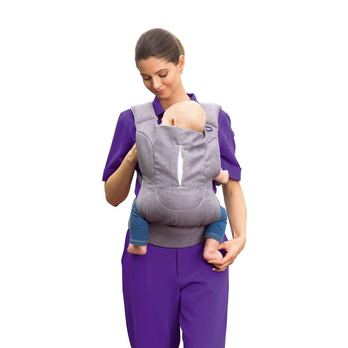 ergonomisch und sicher f/ür Babys H/üfte und R/ücken Chicco Babytrage Myamaki Complete New atmungsaktives 3D-Gewebe blau ab Geburt bis 15 kg