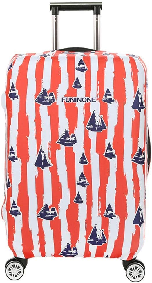 Oureong Luggage Cover Anti-Scratch 3D Print Travel Luggage Cover Rainproof Elastic Suitcase Protector Fits 18 to 32 Inch Luggage Anti-Scratch Dustproof Suitcase Cover 22-24 Color : A, Size : M