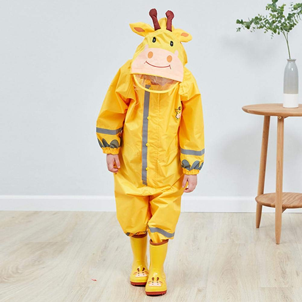 Childrens Jumpsuit Raincoat Waterproof Polyester One Piece Lightweight For Kids Unisex 3 To 10 Years Old Longshow Raincoat