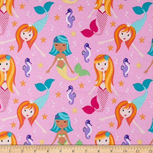 els Fairy Tails Girl Fabric By The Yard (Michael Miller Flannel Fabric)