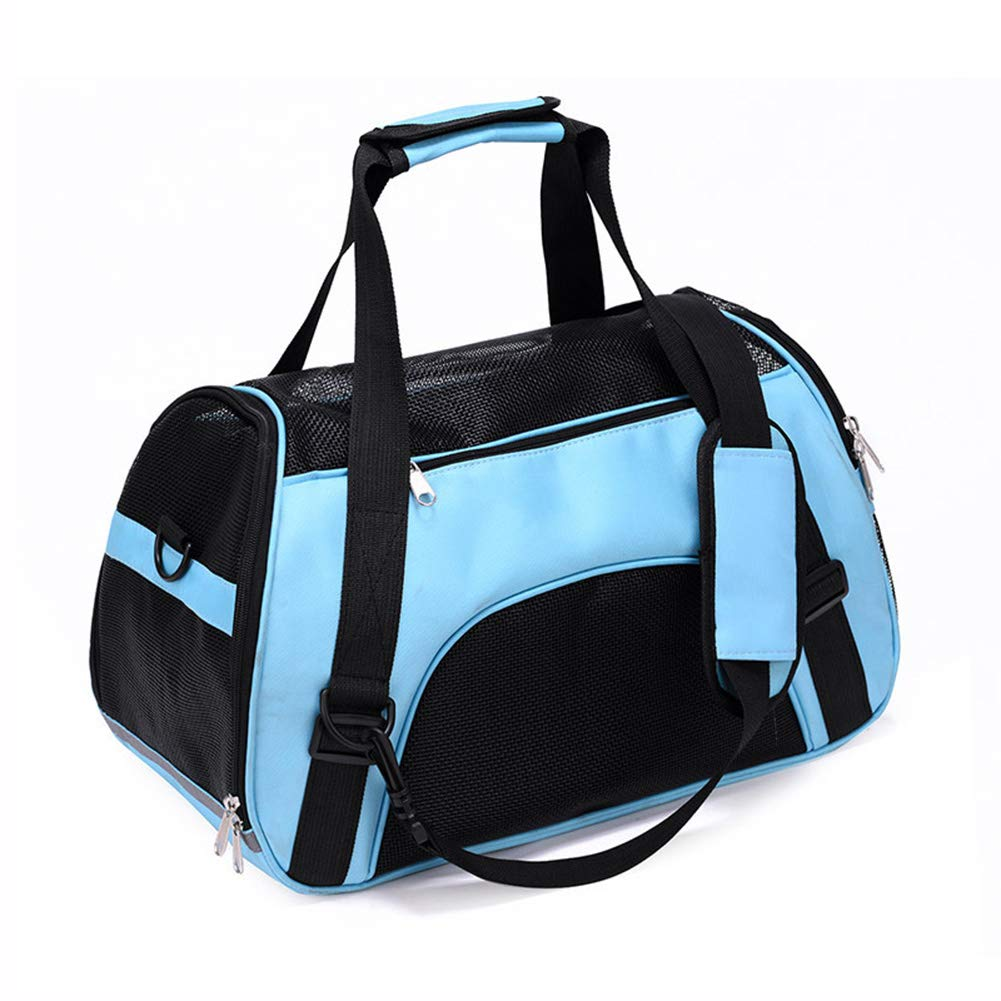 bluee SmallXcai Pet Travel Carrier Shoulder Carry Tote Handbag For Dogs And Cats Foldable Ventilated Non Deformed Go Out Air Sling HandsFree Sling DoubleSided Pouch Comfortable Expandable Suitcases
