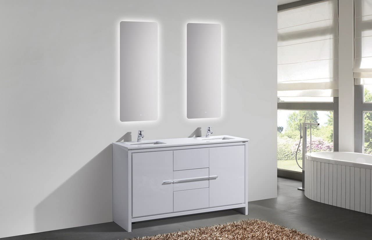 KUBE RISO 64/″ MODERN DOUBLE SINK BATHROOM VANITY WHITE