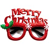 MeeTHan Christmas Fancy Funny Glasses Santa Claus Hat Reindeer Sunglasses Costume Ornaments Party Decoration Glasses