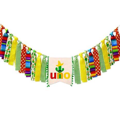 Amazon Com Amosfun Mexican Fiesta Themed 1st First Uno