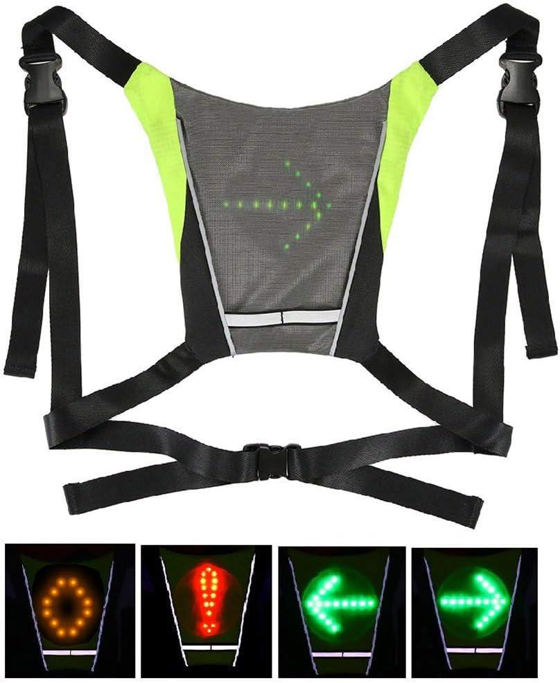 Wigxt - Chaleco de luz Intermitente para Bicicleta (LED ...