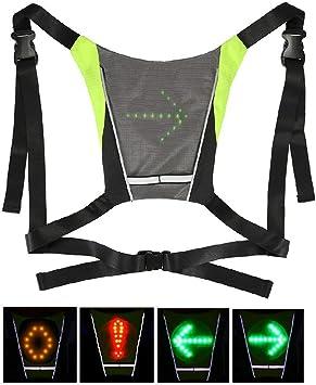 ieenay - Chaleco de seguridad para bicicleta (LED, inalámbrico ...
